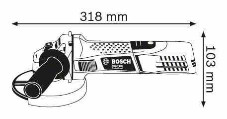 petite meuleuse puissante bosch gws 7-125
