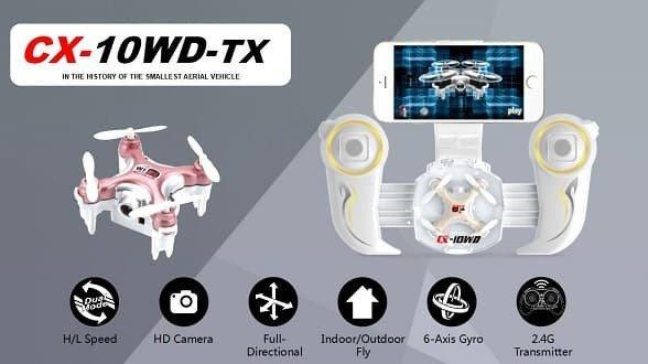 mini drone cheerson cx 10wd tx