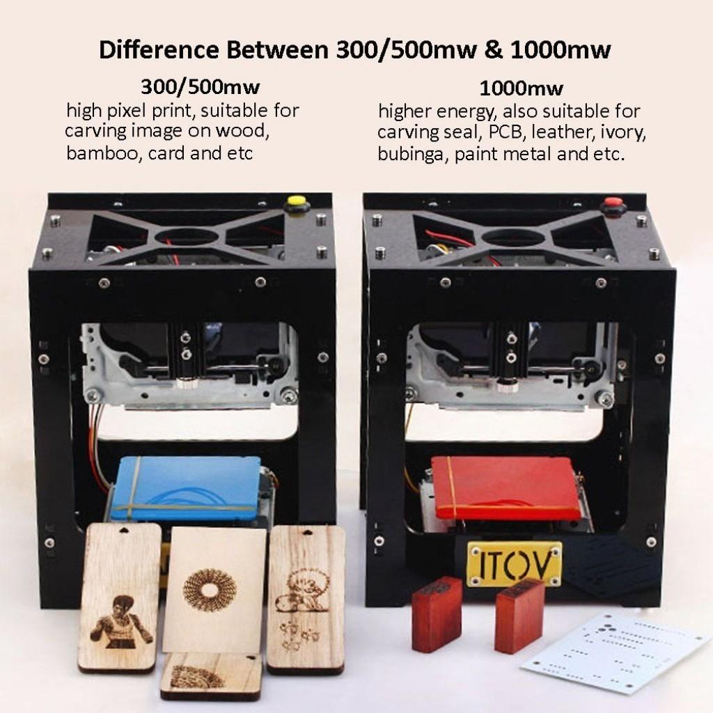 ITOV 1000mW USB Mini Laser Graveur Haute Vitesse Fonctionnement Hors Line différences 300 et 500 mw