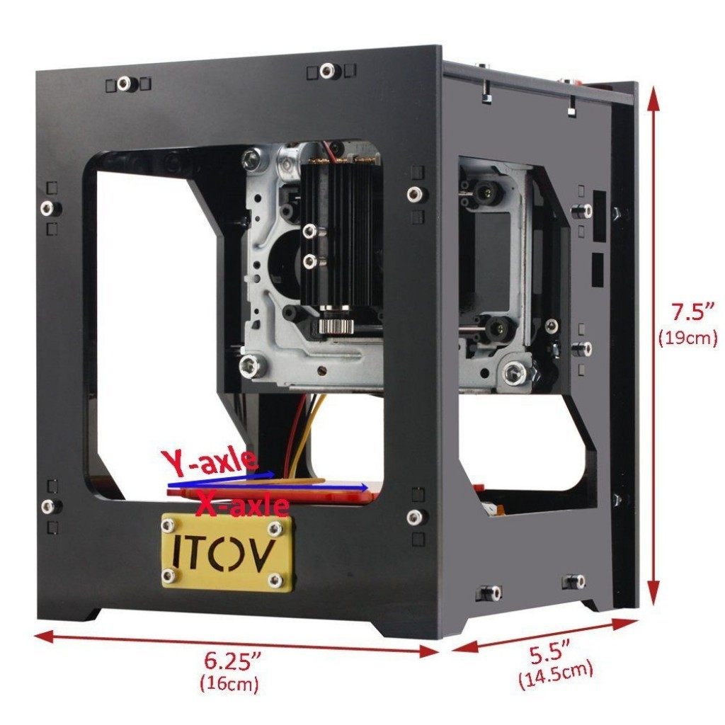 ITOV 1000mW USB Mini Laser Graveur Haute Vitesse Fonctionnement Hors Line dimensions