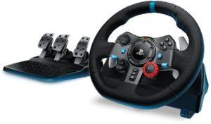 Logitech G29 Volant de course pour PC, PS3 et PS4, en cuir et métal - noir