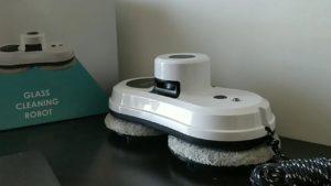 Alfawise S60 Robot Lave Vitre Electrique Blanc - Robot Vitre Automatique Domotique du Système UPS Anti-chute, Robot pour Vitre avec Corde de Sécurité