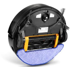 Alfawise X5 Aspirateur Robot Laveur Puissant, Robot Laveur de Sol Silencieux, Dirt Detect, 3 Modes de Nettoyage, Recharge Automatique, Télécommande, WiFi Application (Alexa/Google home/APP Store)