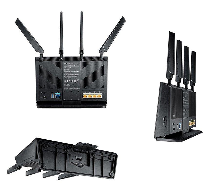 Asus 4G-AC55U Routeur-Modem Wi-Fi AC1200 4G LTE - Vues complète