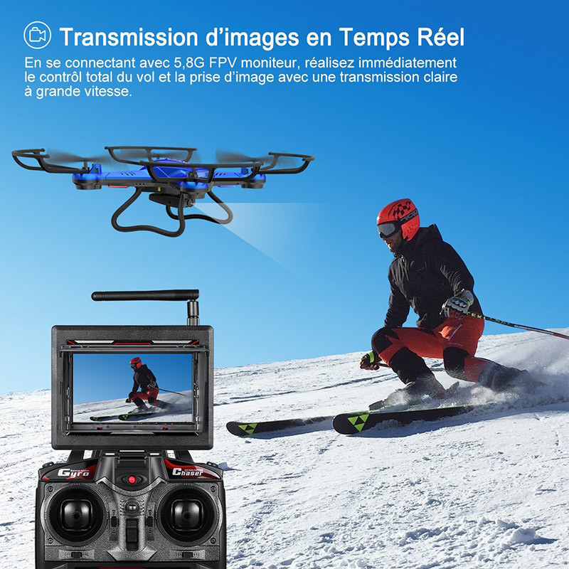 Potensic Fonction Stepless-speed RC drone F181DH 5.8GHz 4CH 6-Axis
