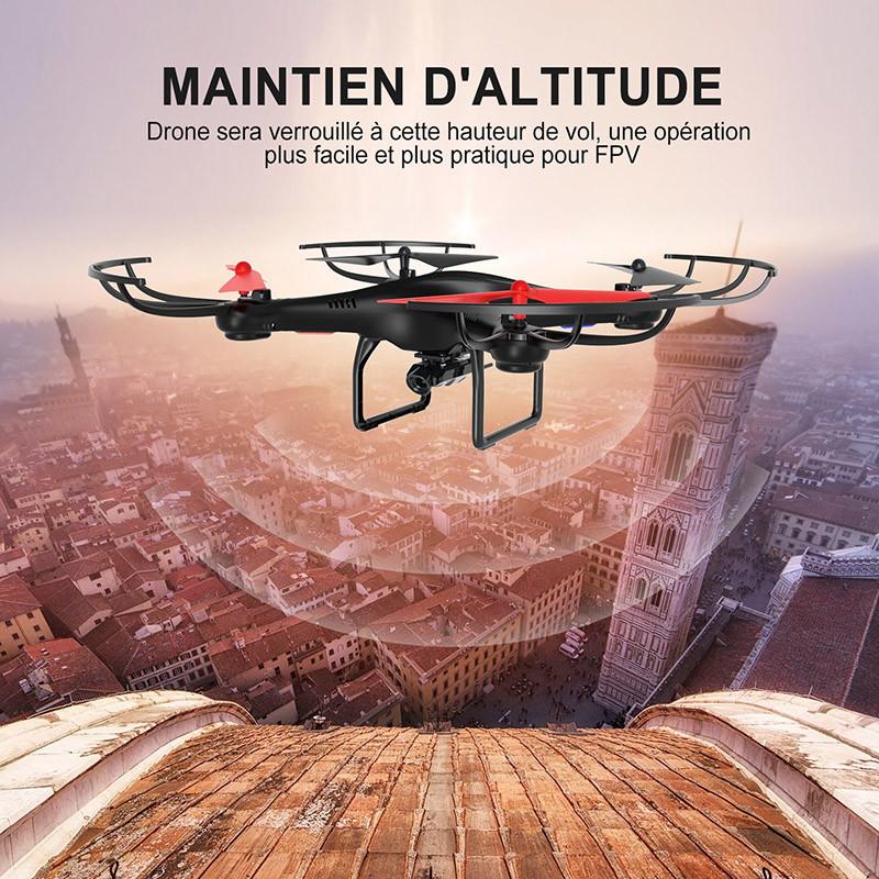 Potensic U48W Drone avec caméra HD Maintient d'altitude
