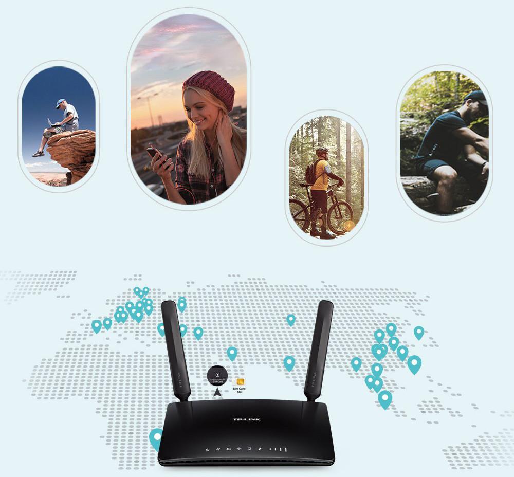 TP-Link Routeur 4G LTE Wi-Fi AC 750Mbps -Utilisations