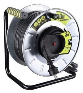 Masterplug pro xT garten - enrouleur de câble avec protection thermique, câble 40 m et 3 m