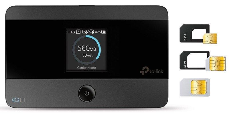TP-Link Routeur Mobile 4G LTE-Advanced Bi-Bande Débit 4G de 150 Mbps Débit Wi-Fi de 300 Mbps