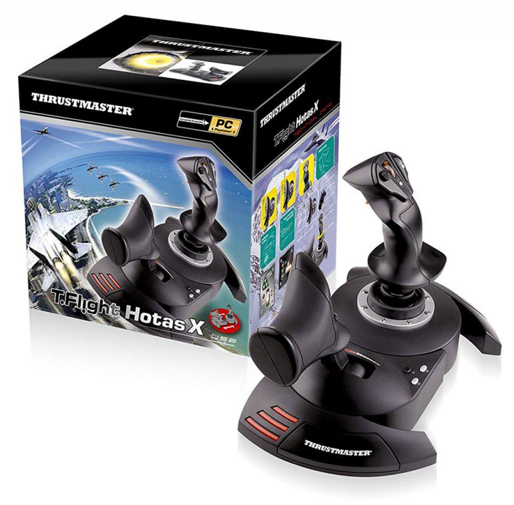 ThrustMaster - Joystick T.Flight Hotas X - Joystick manette des gaz détachable configuration directe décollage immédiat