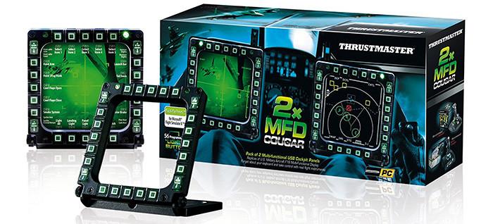 ThrustMaster MFD Cougar - Pack de 2 multifonctionnels USB Cockpit Panel