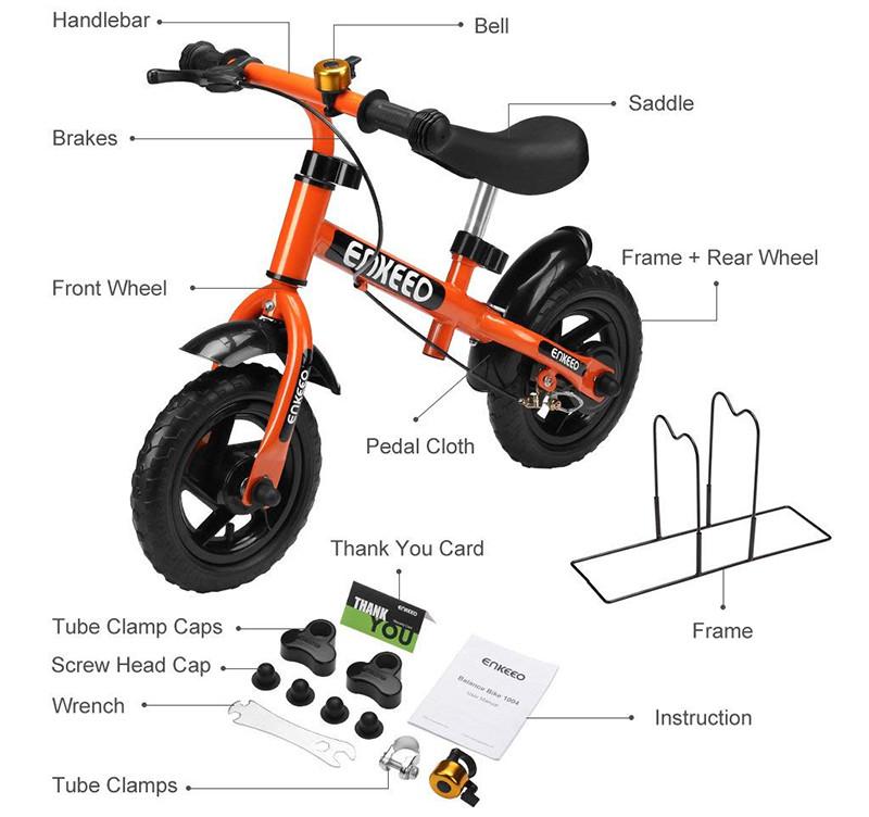 Enkeeo - Draisienne Vélo Enfant, Vélo Sans Pedale Enfant avec la cloche et le frein à main - de 2-6 ans