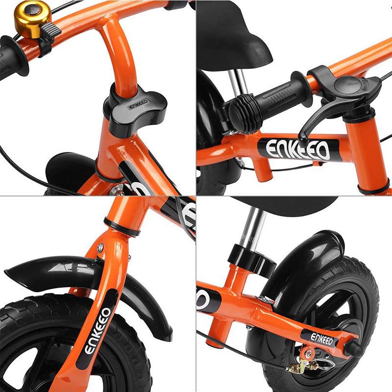 Enkeeo - Draisienne Vélo Enfant, Vélo Sans Pedale Enfant avec la cloche et le frein à main pour les enfants de 2-6 ans