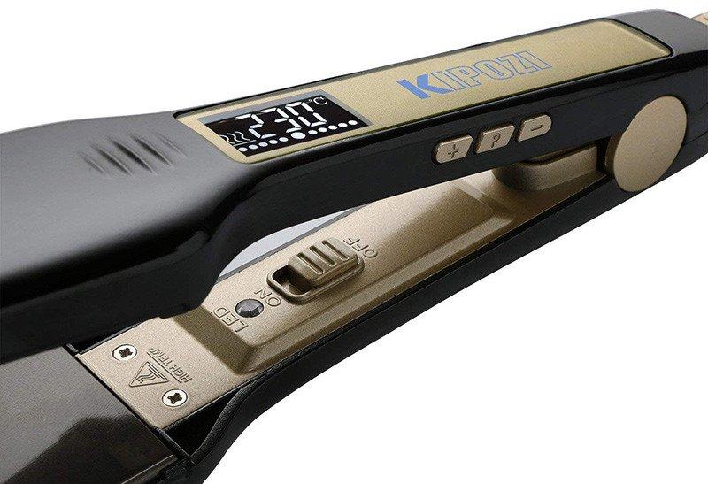 KIPOZI Lisseur Cheveux Professionnel Fer à Lisser à Larges Plaques - Ecran LCD
