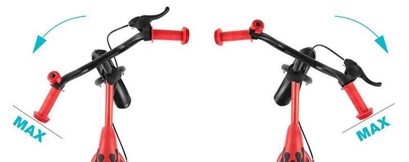 MillyMally 2145 Vélo sans pédale, draisienne pour enfant, avec roues de 10 pouces, freins et sonnette