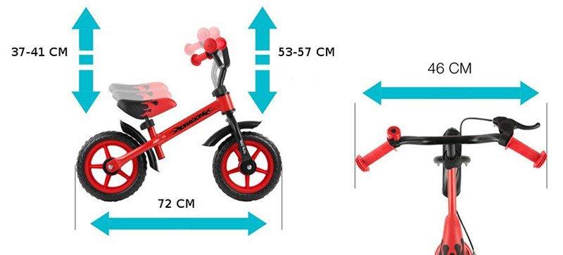 MillyMally 2145 Vélo sans pédale, draisienne pour enfant