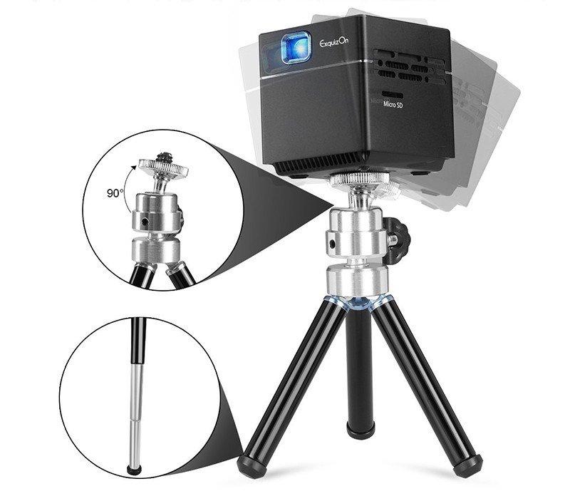 ExquizOn Mini Vidéoprojecteur HD, S6 Projecteur DLP 1080P sans Fil