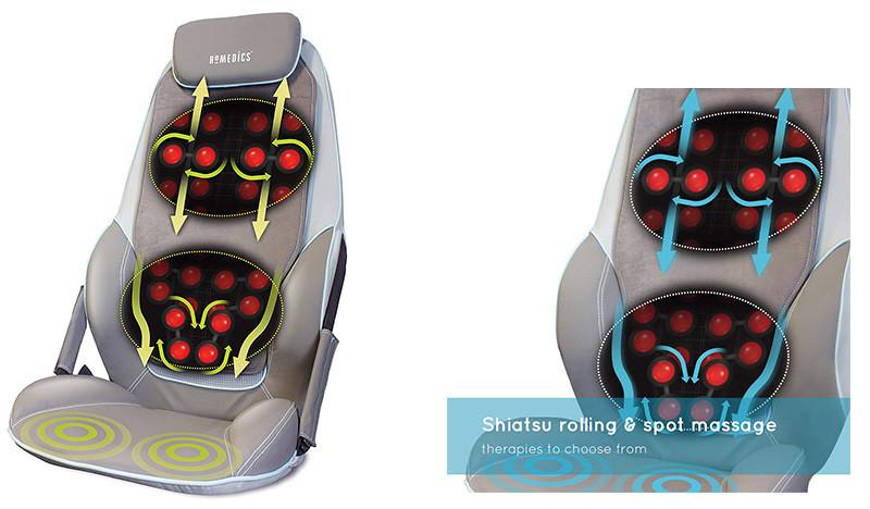 HOMEDICS Siège de massage shiatsu avec roulement pour le dos et les épaules CBS-1000