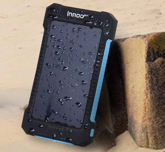 Innoo Tech 10000mAh Batterie Externe Solaire avec Deux Ports USB