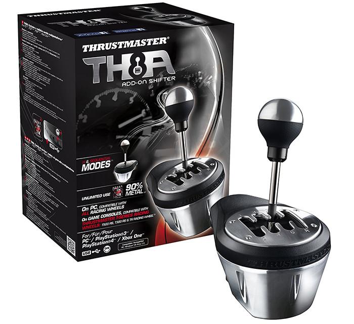 Thrustmaster - TH8A Boite de Vitesse Réaliste Compatible avec PC PS3 PS4 et Xbox One