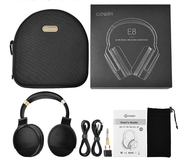 COWIN E8 Casque Bluetooth sans Fil Réduction de Bruit Active Écouteurs avec Microphone Hi-FI Basse Profonde Casque Audio Stéréo