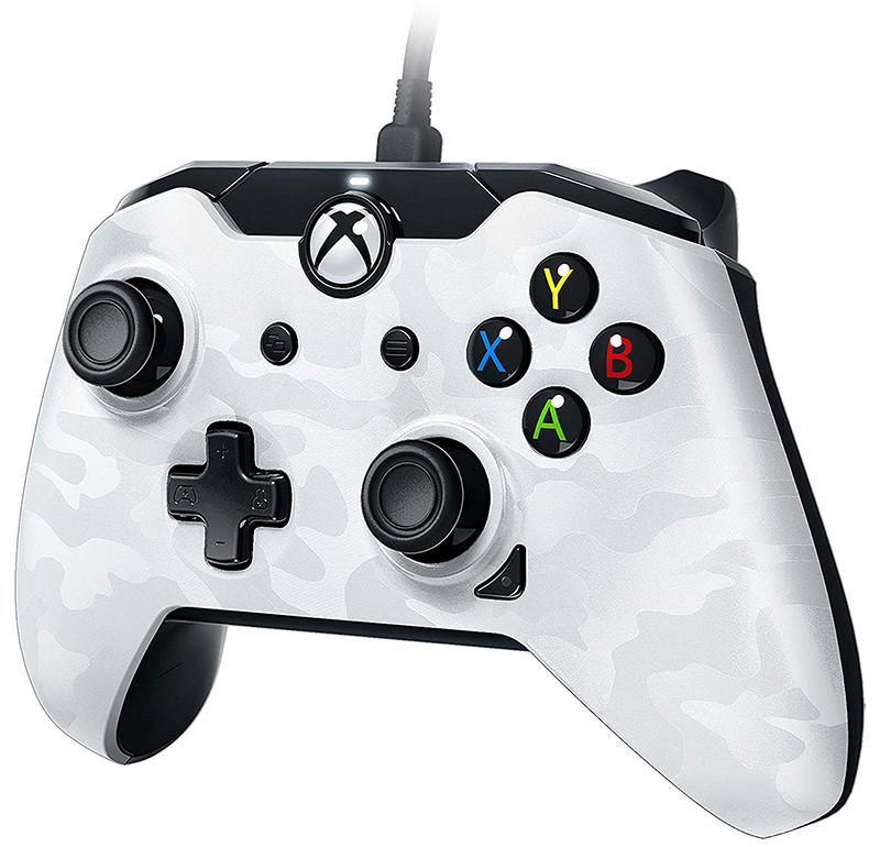 Manette filaire pour Xbox One-S-X-PC Camo Blanc