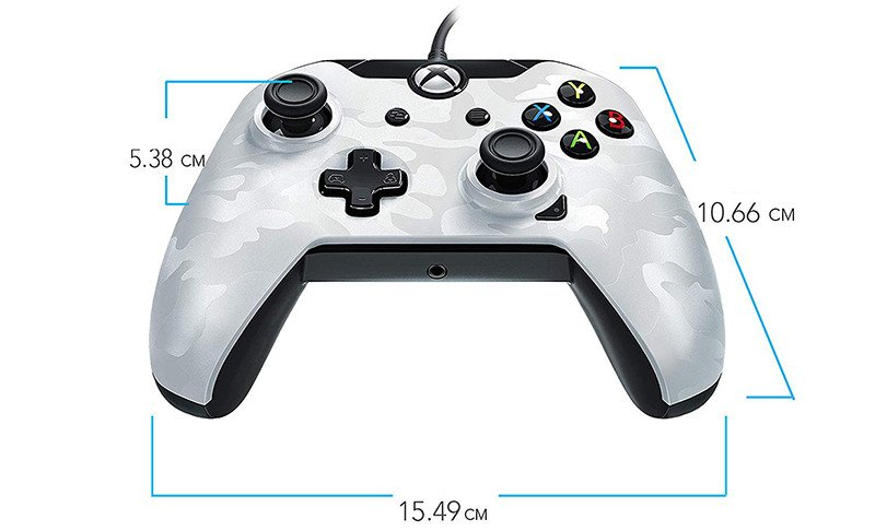 Manette filaire pour Xbox One-S-X-PC - Camo Blanc
