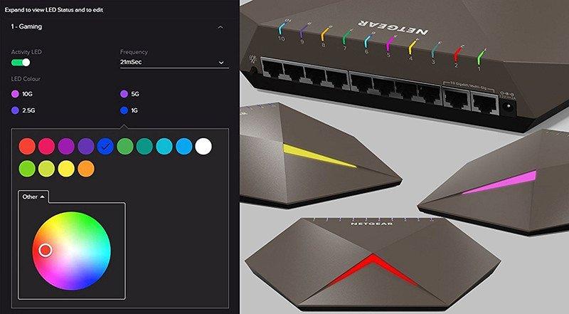 Netgear GS810EMX 100PES Switch Nighthawk SX10 Pro Gaming