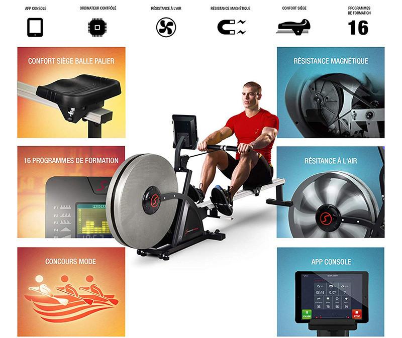 Sportstech Rameur ergomètre RSX400-RSX600