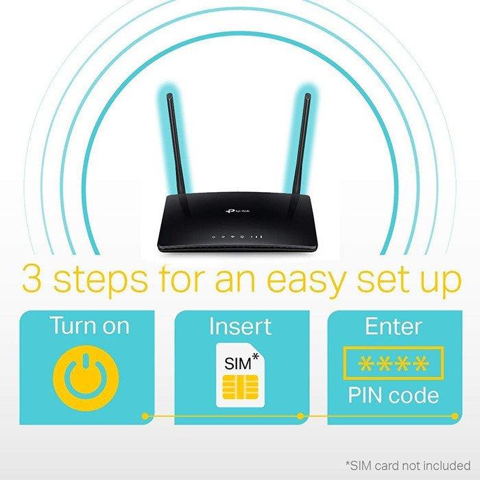 TP-Link Routeur 4G LTE Wi-FI AC 1200 Mbps - ARCHER MR400