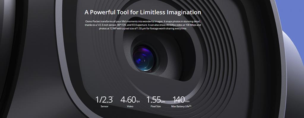 DJI Osmo Pocket 3 Axes une bonne qualité d'image vidéo