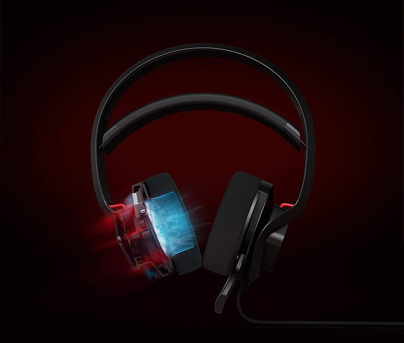HP Omen X Casque audio Binaural Bandeau Noir - Rouge