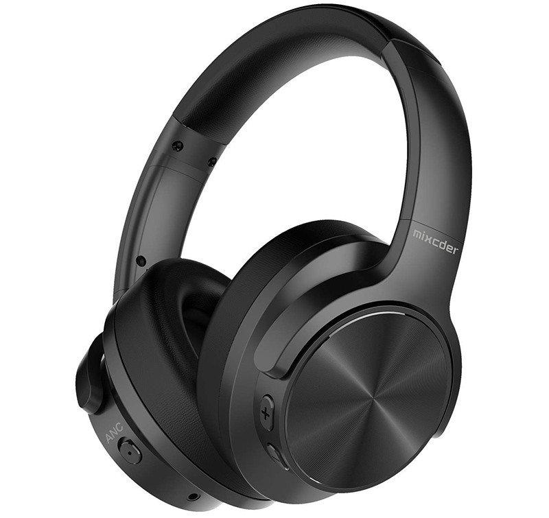 Mixcder E9 Casque Bluetooth à Réduction de Bruit Active Circum Écouteurs ANC sans Fil Stéréo avec Basses Profondes