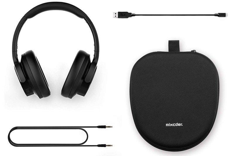 Mixcder E9 Casque Bluetooth à Réduction de Bruit Active Circum Écouteurs ANC