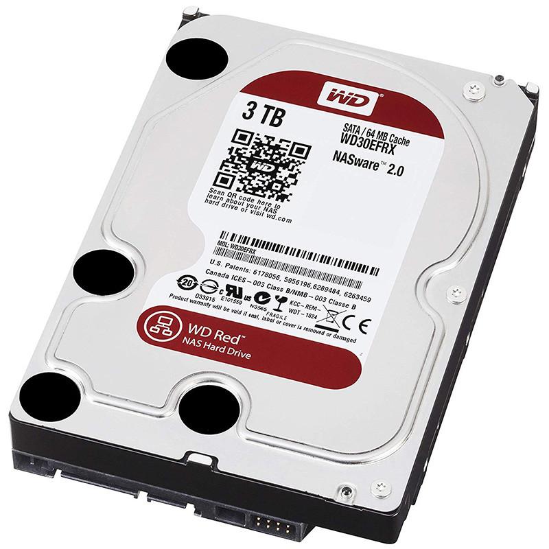 WD Red Desktop WD30EFRX Disque dur interne 3.5 SATA III IntelliPower Mémoire cache 64Mo 3 To