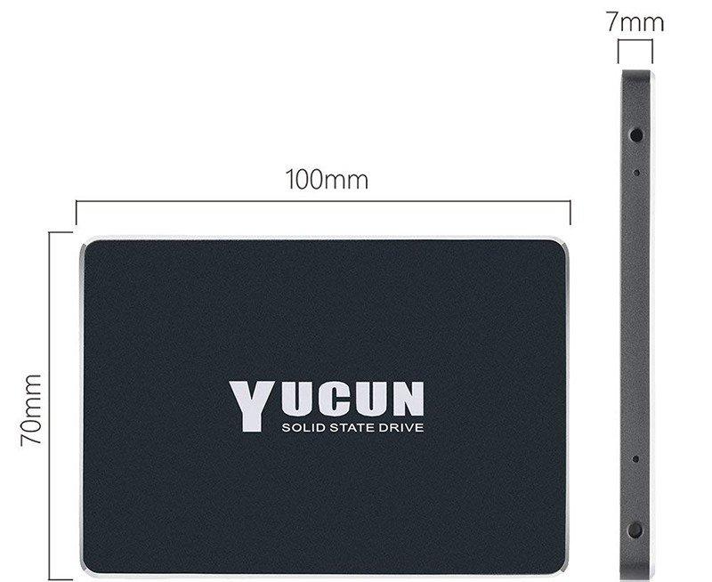 YUCUN 2,5 Pouces SATA III Disque Flash SSD 480 Go Interne Solid State Drive