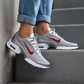 Nike Womens Air Max Jewell Silver Bullet Qs Trainers Metallic Silver/Varsity Red